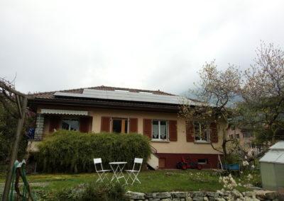 Installation 24 modules solaires en sur toiture Aigle