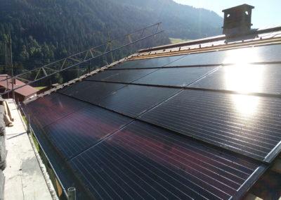 Installation 16 modules solaires en intégré Vers l'église