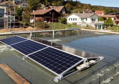 Installation de 6 modules solaires à Arzier