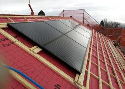 Installation 8 modules solaires en intégré à Arzier