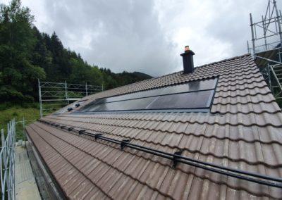 Installation 10 modules solaires en intégré à Gryon
