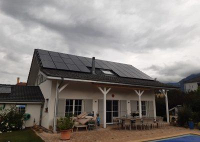 Installation 33 modules solaires en surtoiture à Noville