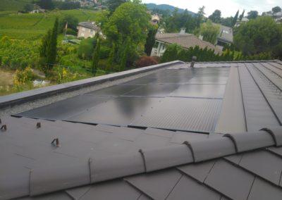 Installation 15 modules solaires en intégré à Blonay