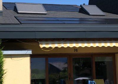 Installation 21 modules solaires en intégré au Bouveret