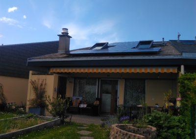 Installation 20 modules solaires en surtoiture au Bouveret