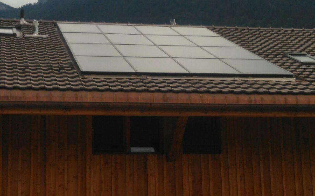 Installation 16 modules solaires en intégré à Corbeyrier