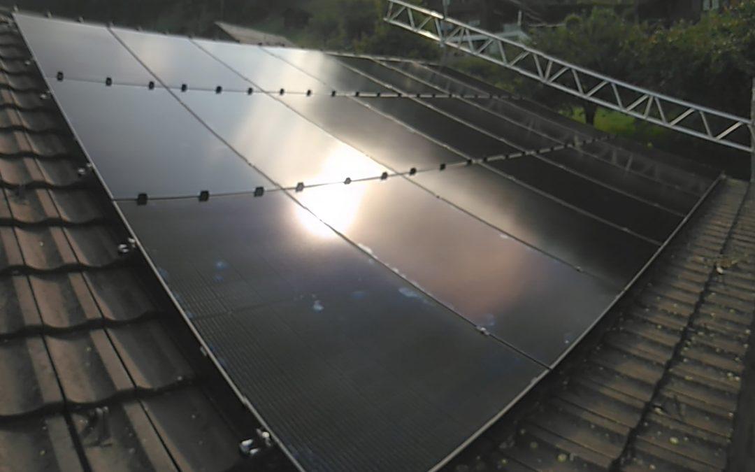 Installation 21 modules solaires en surtoiture à Troistorrent